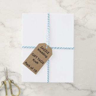 Märker tvinnar den beställnings- gåvan för bröllop presentetikett