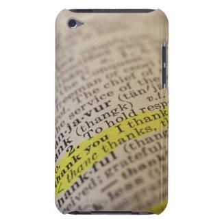 Markerat ordboktillträde iPod touch hud