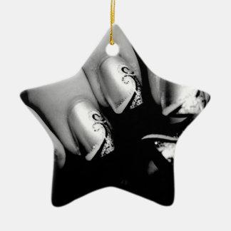 Märkes- Fingernails Stjärnformad Julgransprydnad I Keramik
