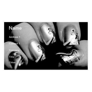 Märkes- Fingernails Set Av Standard Visitkort
