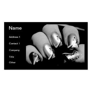 Märkes- Fingernails Visit Kort