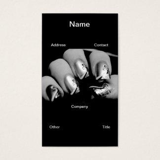 Märkes- Fingernails Visitkort
