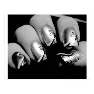 Märkes- Fingernails Vykort