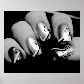 Märkes- Fingernailsaffisch Poster