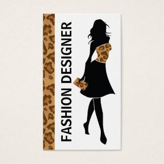 Märkes- flicka för mode med det bruna visitkort