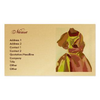 """Märkes-"""" guld- brun klänning """"för mode set av standard visitkort"""