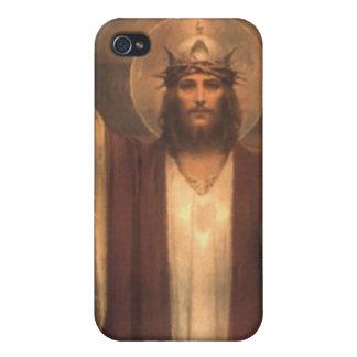 Märkes- iphone case som presenterar Kristus kungen iPhone 4 Hud
