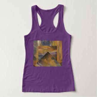 Märkes- kvinna purpurfärgade tanktop