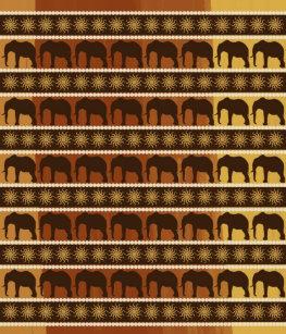 Märkes- Scarfsjal för elefant Halsduk 74a5be325b899