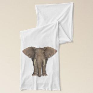 Märkes- Scarfsjal för elefant Sjal 00e852b35cec7