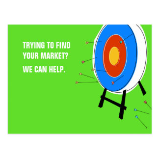 Marknadsföra uppsätta som mål vykortet vykort