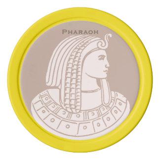 Markör för golfboll för egypten för rosa Pharaoh Poker Marker