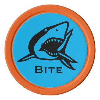 Markör för golfboll för sjöliv för blått för poker marker