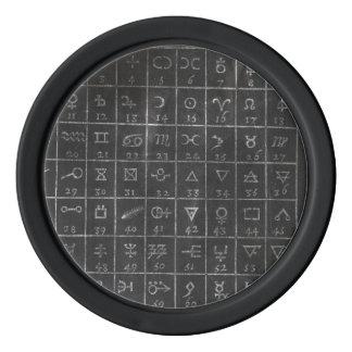 Markör för golfboll för svart tavla för poker marker