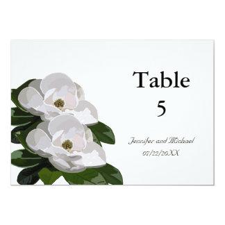 Markörer för bord för bröllop för Magnoliablomma 12,7 X 17,8 Cm Inbjudningskort