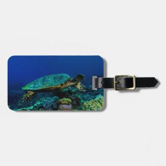 Märkre för bagage för Hawksbill havssköldpadda Bagagebricka