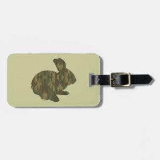 Märkre för bagage för kamouflageSilhouettepåskhare Bagagebricka
