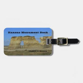 MÄRKRE för BAGAGE för Kansas monumentsten Bagagebricka