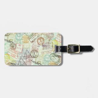 Märkre för bagage för passfrimärketryck bagagebricka