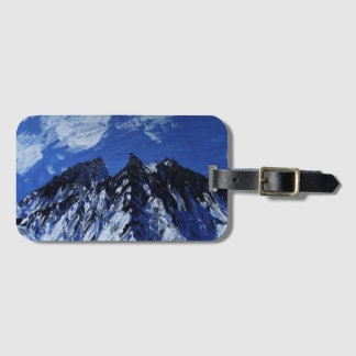 Märkre för blåttbergbagage bagagebricka