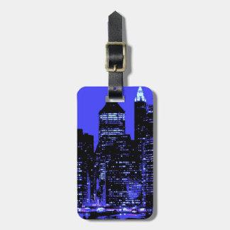 Märkre för blåttNew York City bagage Bagagebricka