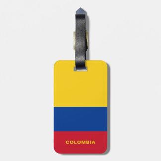 Märkre för Colombia flaggabagage Bagagebricka