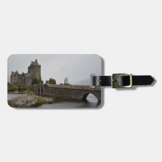 Märkre för Eilean Donan slottSkottland bagage Bagagebricka