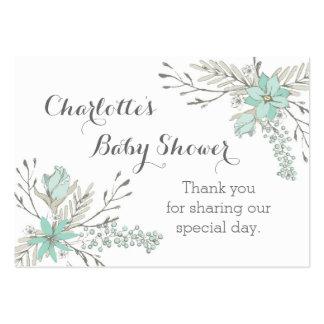 Märkre för favör för baby shower för set av breda visitkort