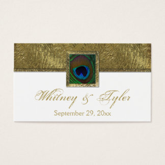 Märkre för favör för bröllop för vit- och visitkort
