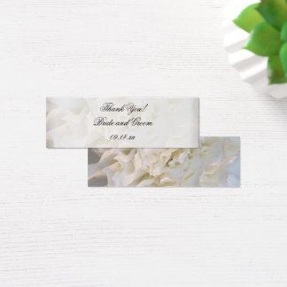 Märkre för favör för tack för bröllop för litet visitkort