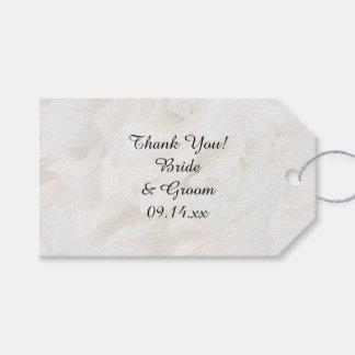 Märkre för favör för tack för bröllop för presentetikett