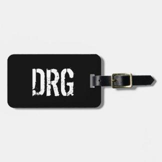 Märkre för funkypersonligbagage i svartvitt bagagebricka