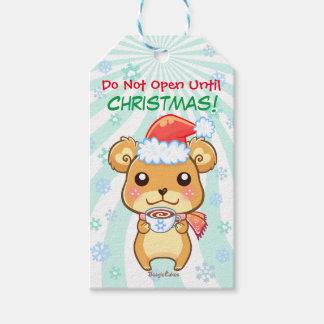 Märkre för gåva för anpassade för vinterjulbjörn presentetikett
