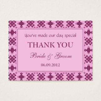 Märkre för gåva för favör för rosapersonligbröllop visitkort