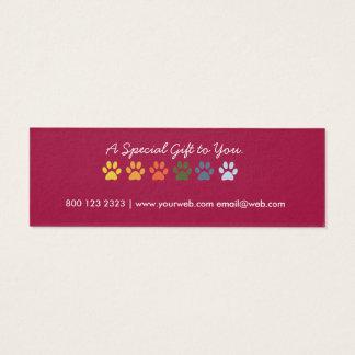 Märkre för gåva för helgdag för Groomer för Litet Visitkort