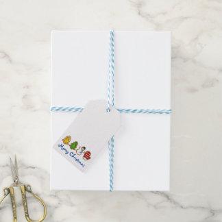 Märkre för gåva för julafton för god presentetikett