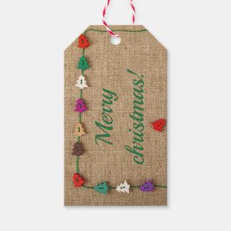Märkre för gåva för julhälsning beställnings- presentetikett