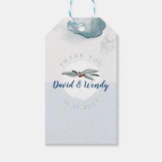 Märkre för gåva för tack för bröllop för presentetikett