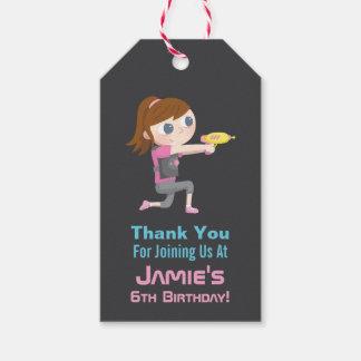 Märkre för gåva för tack för flicka för presentetikett