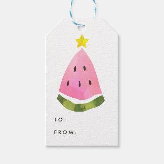 Märkre för gåva för träd för julafton för presentetikett