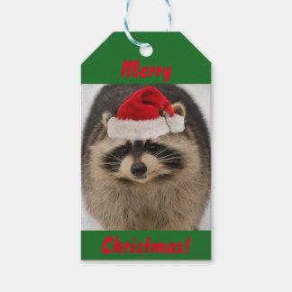 Märkre för julraccoongåva presentetikett