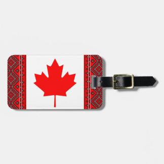 Märkre för Kanada Ukraina flaggorbagage Bagageetiketter