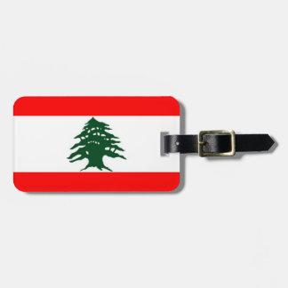 Märkre för Libanon flaggabagage Bagagebricka