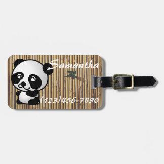 Märkre för Pandabambubagage Bagagebricka