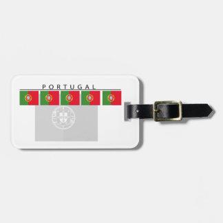 Märkre för Portugal flaggabagage Bagagebricka