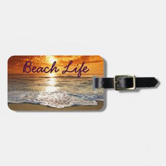 Märkre för strandlivbagage bagagebricka