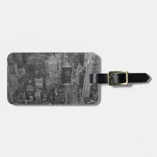 Märkre för svart- & vitNew York City bagage Bagagebricka