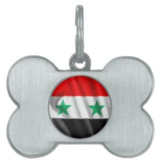 Märkre för Syrien flaggahusdjur Namnbricka Husdjur