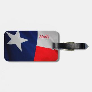 Märkre för Texas flaggabagage Bagagebricka
