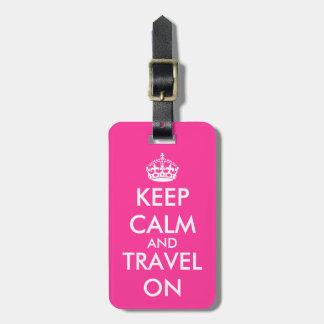 Märkre | Personalizable för bagage för Bagagebricka